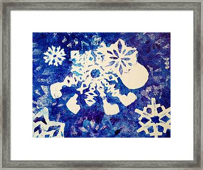 Snow Sheep Framed Print