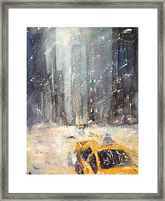 Snow Snow Snow... Framed Print by NatikArt Creations
