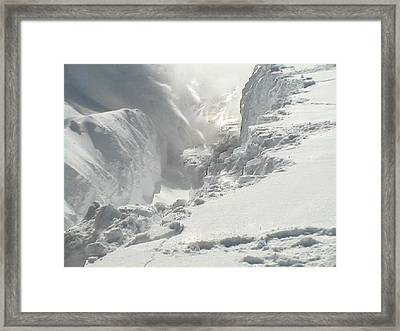 Framed Print featuring the photograph Snow Snow Snow by Sherri  Of Palm Springs