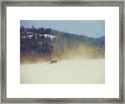 Snow Squall Framed Print