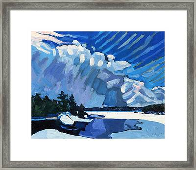 Snow Squalls Framed Print by Phil Chadwick