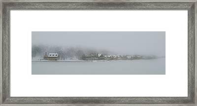 Snow Storm On Boathouse Row Philadelphia Framed Print