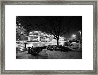 Framed Print featuring the photograph Snow Surprise by Jeanette O'Toole