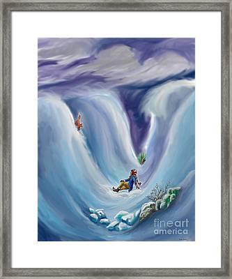 Snow Tang - Story Illustration 6 - Age 12 Framed Print by Dawn Senior-Trask