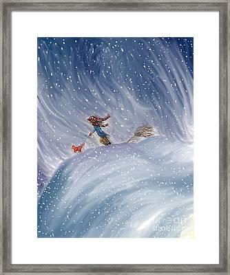Snow Tang - Story Illustration 7 - Age 12 Framed Print by Dawn Senior-Trask