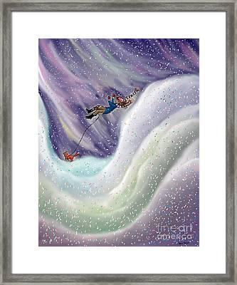 Snow Tang - Story Illustration 8 - Age 12 Framed Print by Dawn Senior-Trask