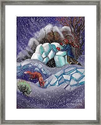 Snow Tang - Story Illustration 9 Framed Print by Dawn Senior-Trask