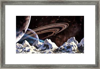 Snow Top Framed Print by Marvin Blaine