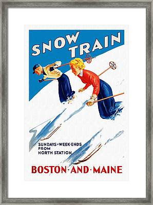 Snow Train - Restored Framed Print