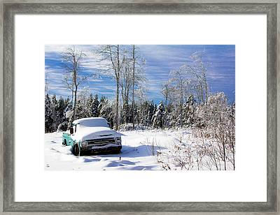 Snow Truck Framed Print
