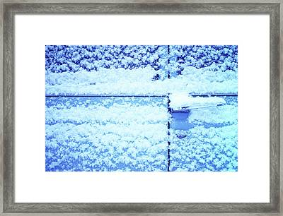 Framed Print featuring the photograph Snow Van 51 Chevy Panel by Laurie Stewart