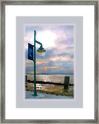 Framed Print featuring the photograph Snow Waterfront Park Walk by Felipe Adan Lerma