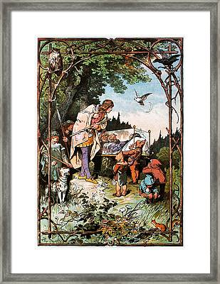 Snow White And The Seven Dwarfs Framed Print by Alexander Zick
