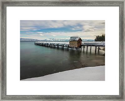 Snow White Pier Framed Print