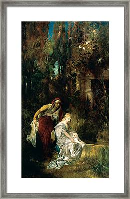 Snow White Receives The Poisoned Comb Framed Print