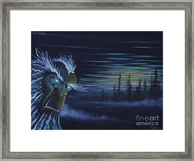 Snow Yeti  Framed Print by Zach Kintner