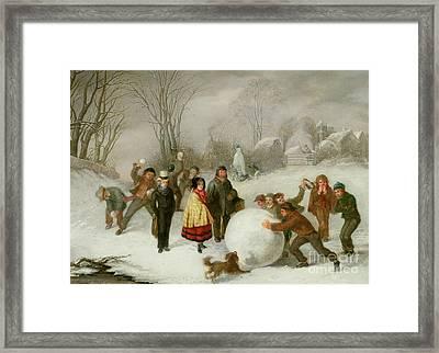 Snowballing   Framed Print