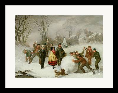 Blizzard Scenes Paintings Framed Prints