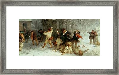 Snowballing Framed Print by John Morgan