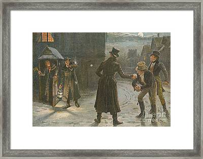 Snowballing The Watchmen Framed Print by George Goodwin Kilburne