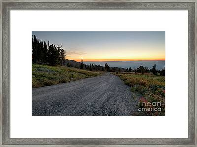 Snowbank Mountain Road Framed Print