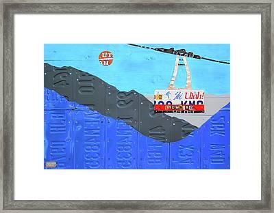 Snowbird Ski Resort Lift Utah License Plate Art Framed Print