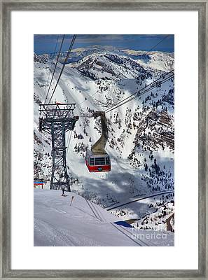 Snowbird Tram Portrait Framed Print