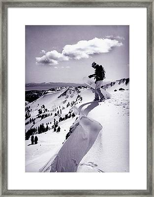 Snowboarder, Squaw Valley, Ca Framed Print
