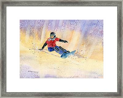 Snowboarding Framed Print by Melly Terpening