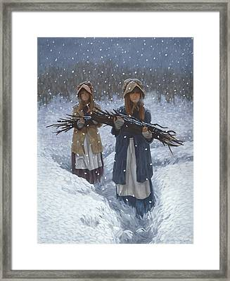 Snowbound At Red Buttes Framed Print