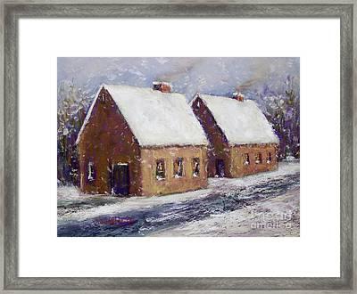 Snowbound Framed Print by Joyce A Guariglia