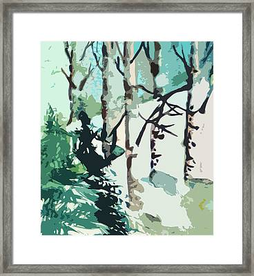 Snowbound Framed Print by Mindy Newman
