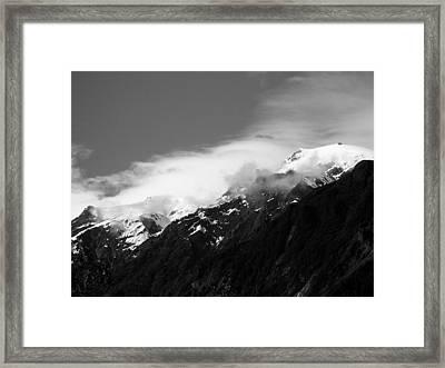 Snowcap Dance Framed Print
