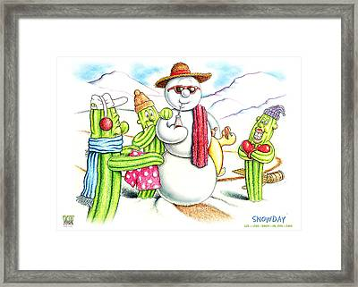 Snowday Framed Print by Cristophers Dream Artistry