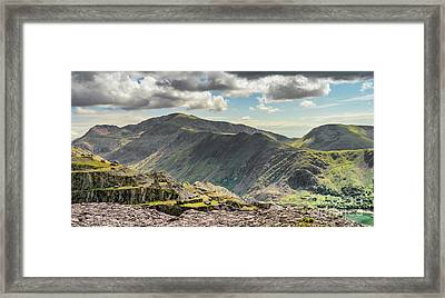Snowdon Moutain Range Framed Print by Adrian Evans