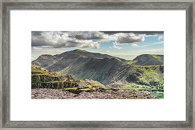 Snowdon Moutain Range Framed Print