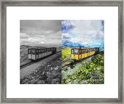 Snowdon Train Framed Print