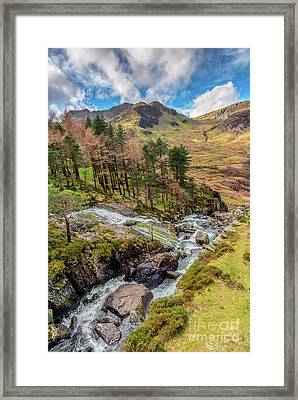 Snowdonia Landscape Winter Framed Print by Adrian Evans