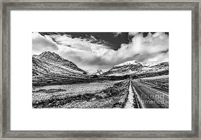 Snowdonia Mountain Highway Framed Print