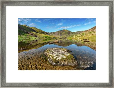 Framed Print featuring the photograph Snowdonia Mountain Reflections by Adrian Evans