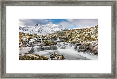 Snowdonia Mountain River Framed Print by Adrian Evans