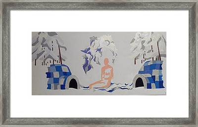 Framed Print featuring the painting Snowed by Erika Chamberlin