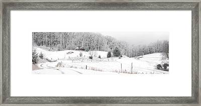 Snowed In Framed Print by Alan Lenk