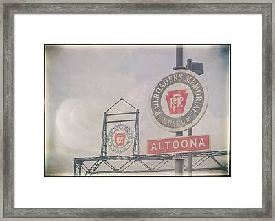 Foggy Day In Altoona Framed Print by Eclectic Art Photos