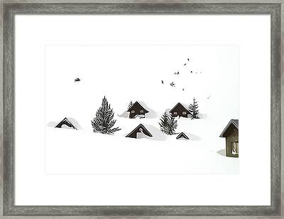 Snowed In Framed Print by Gareth Davies
