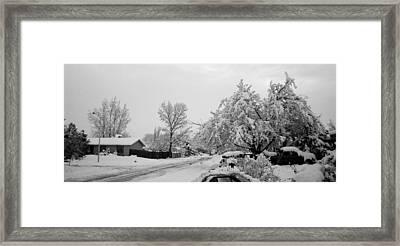 Snowed In Framed Print by Jera Sky