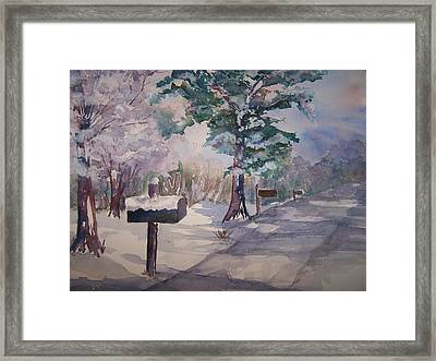 Snowed In Framed Print by Sandy Collier