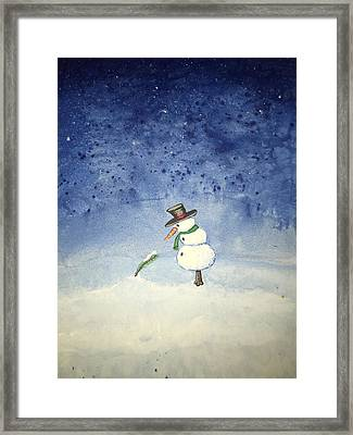 Framed Print featuring the painting Snowfall by Antonio Romero