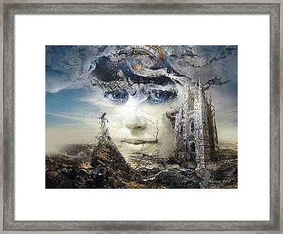 Snowfall In Parallel Universe Or The One That Got Away Framed Print by George Grie