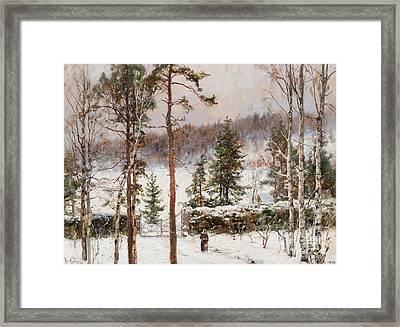 Snowfall Framed Print by Celestial Images